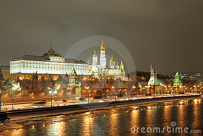 Night Moscow. Russia