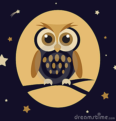 Night Owl Vector Illustration