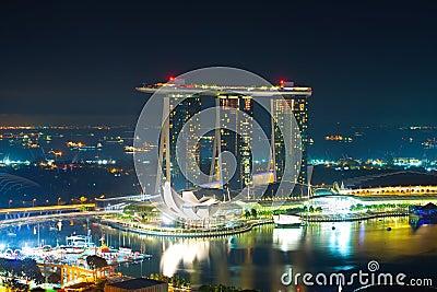 A night panorama of Singapore