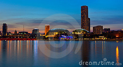 Night panorama of Singapore