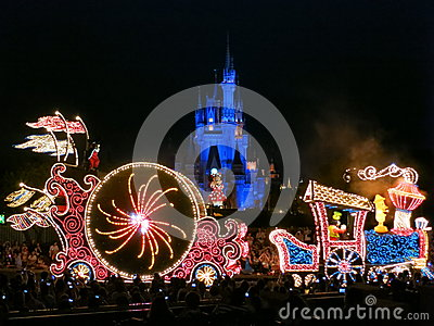 Night Parade at Tokyo Disneyland Editorial Stock Photo