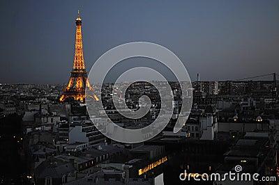 Night Paris Editorial Image