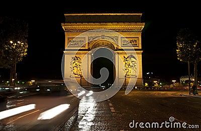 Night Paris, Arc de Triomphe