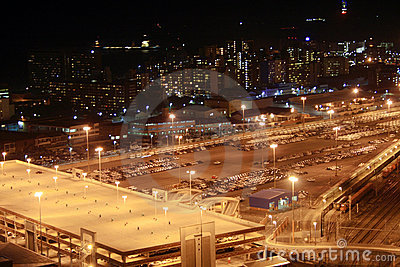 Night parking lot