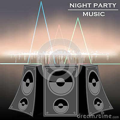 Night party music vector