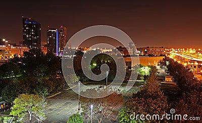 Night photo of Grand Rapids, MI skyline