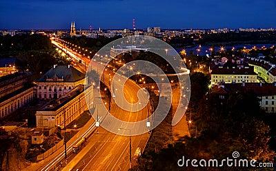 The  night piece of city