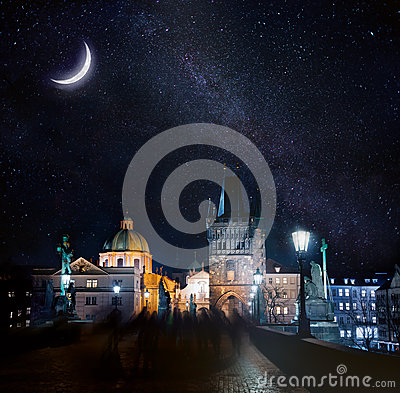 Free Night Prague Stock Images - 90931434