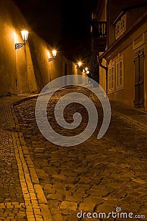 Night Prague scenery