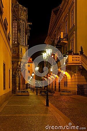 Night Prague street