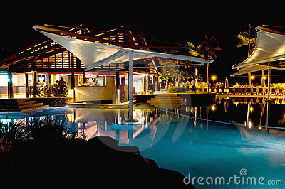 Night at Radisson Resort in Fiji Editorial Image