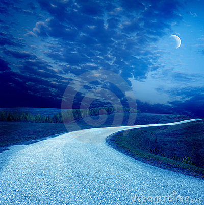 Free Night Road Royalty Free Stock Image - 22877156