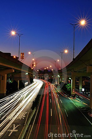 Free Night Road Of Guangzhou Royalty Free Stock Photos - 20396478