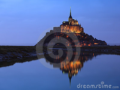 Night at Saint Michel monastery