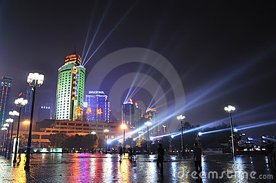 Night Scene of Chongqing port Editorial Image