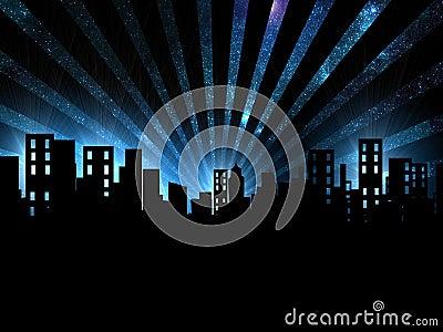 Night scene, city night view