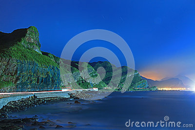 Night Scene of Coast in Taiwan