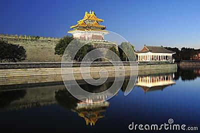 Night scene of forbidden city