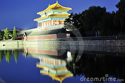 Night scene of forbidden city