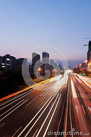 Night scene of Guanghzou city