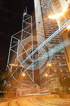 Night scene in Hong Kong Editorial Photo