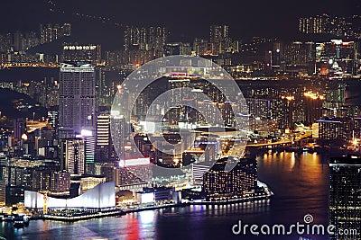 Night scene of the Hong Kong