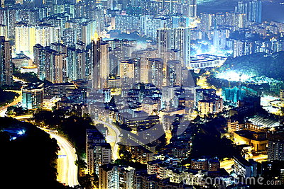 Night scene of the Kowloon - Hong Kong