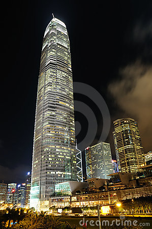 Free Night Scene Of Business Building Royalty Free Stock Photos - 5957508