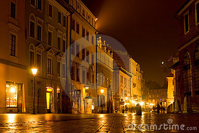 Night scene in old city