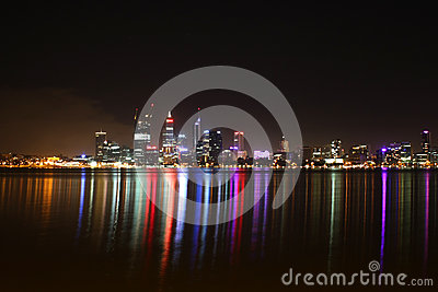 Night scene of Perth City