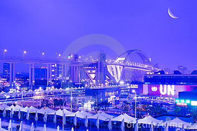 Night Scene of shanghai EXPO Editorial Image