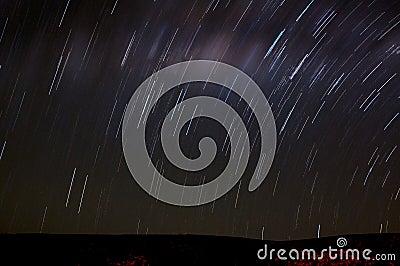 Night scene - stars movement, long exposure shot