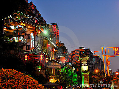 Night scenes of Chongqing Editorial Stock Image