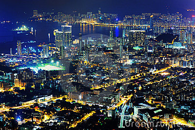 Night scenes of Kowloon & Hong Kong island