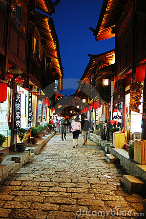 Free Night Scenes Of Lijiang Royalty Free Stock Photos - 14595198