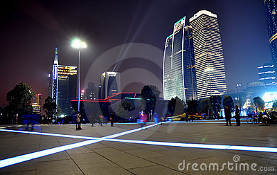The night scenic of Guangzhou Editorial Photo