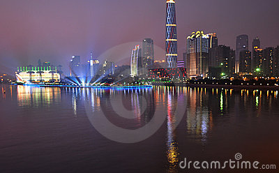 The night scenic of prosperous Guangzhou