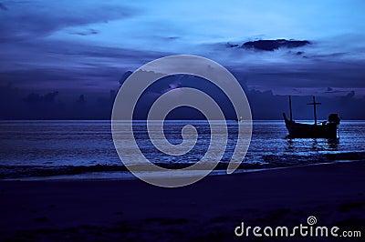 Night seascape.