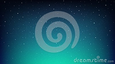 Night shining starry sky, blue space background with stars Vector Illustration