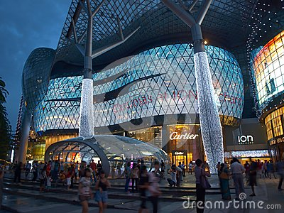 Night Shopping in Singapore Editorial Photography