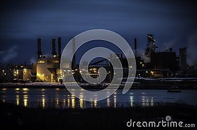 Steel Plant Night Long Exposure