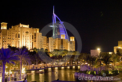 Night sign of Dubai