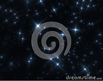 Night sky fractal