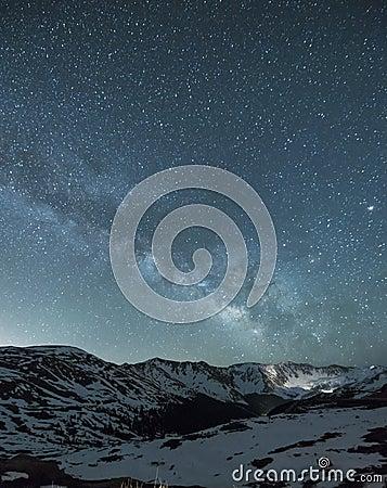 Free Night Sky Over Loveland Pass, Colorado Stock Image - 72505791