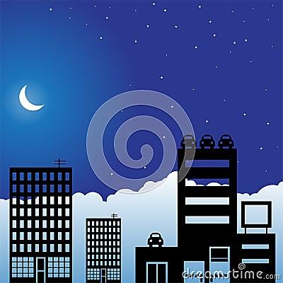 Night Sky Scene - City