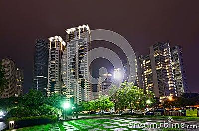 Night skyline of Kuala Lumpur