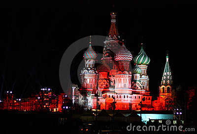 Night St. Basil Cathedral