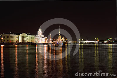 Night St Petersburg