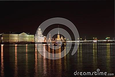 Night St Petersburg