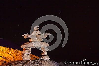 Night Stone Man Stack